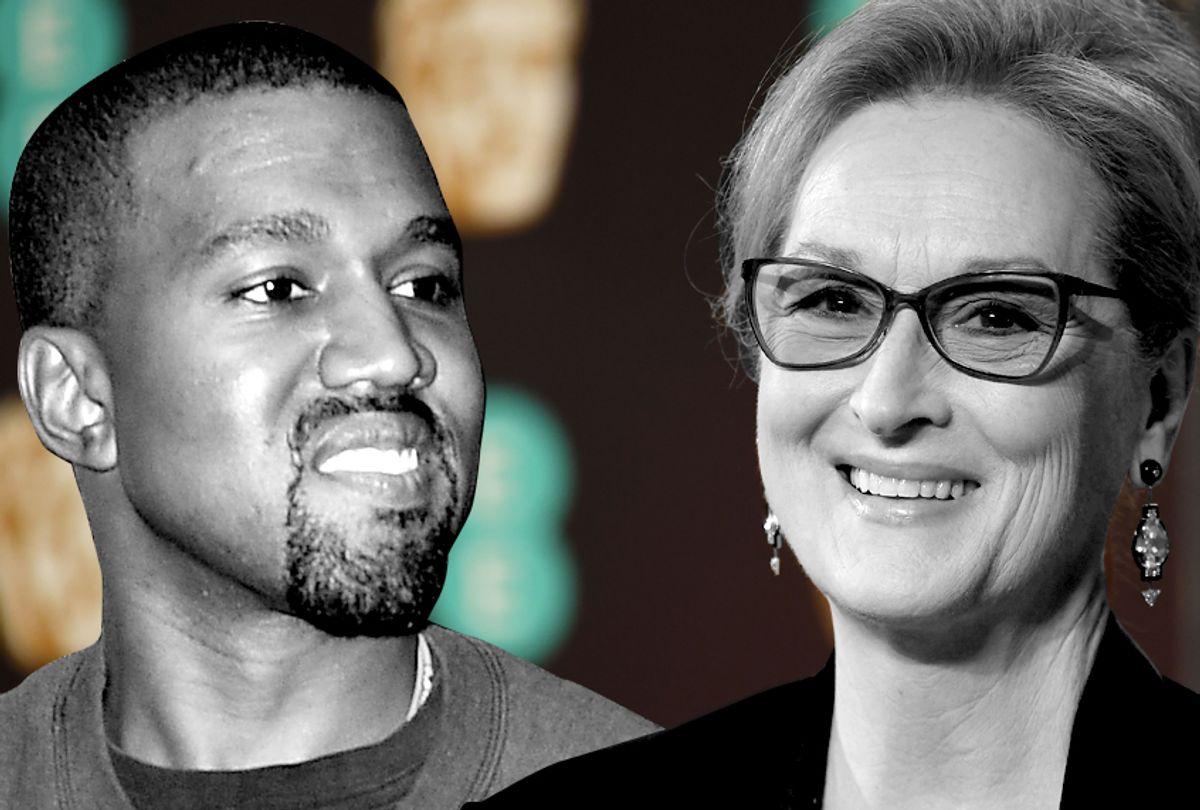 Kanye West; Meryl Streep (AP/Star Max/Getty/Justin Tallis)