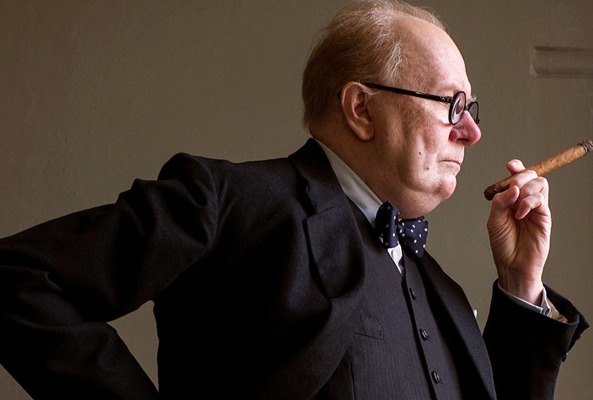 "Gary Oldman as Winston Churchill ""Darkest Hour"" (Focus Features/Jack English)"