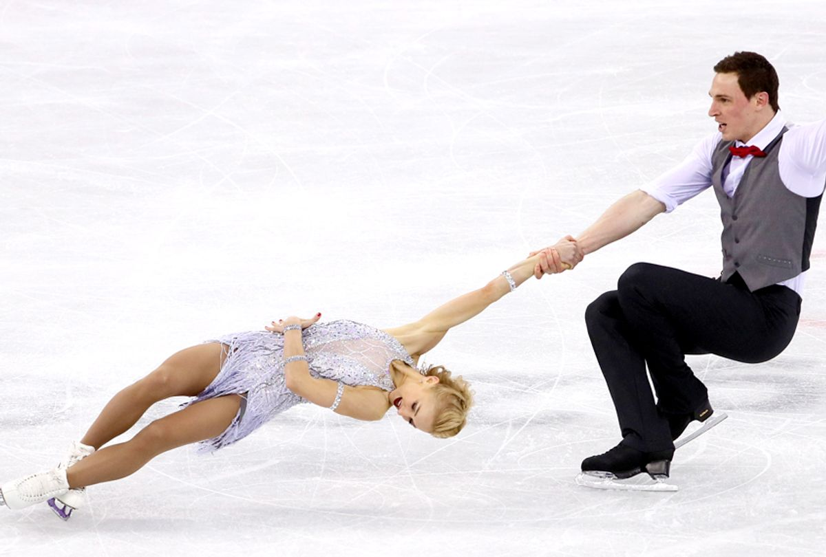 Aljona Savchenko and Bruno Massot compete during the Pair Skating Short Program at the PyeongChang 2018 Winter Olympics (Getty/Jamie Squire)