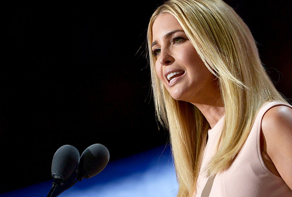 Ivanka Trump speaks on the last day of the Republican National Convention (Getty/Brendan Smialowski)