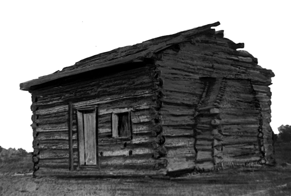 Abraham Lincoln was born in this log cabin in Hardin County, Ky. (AP Photo)