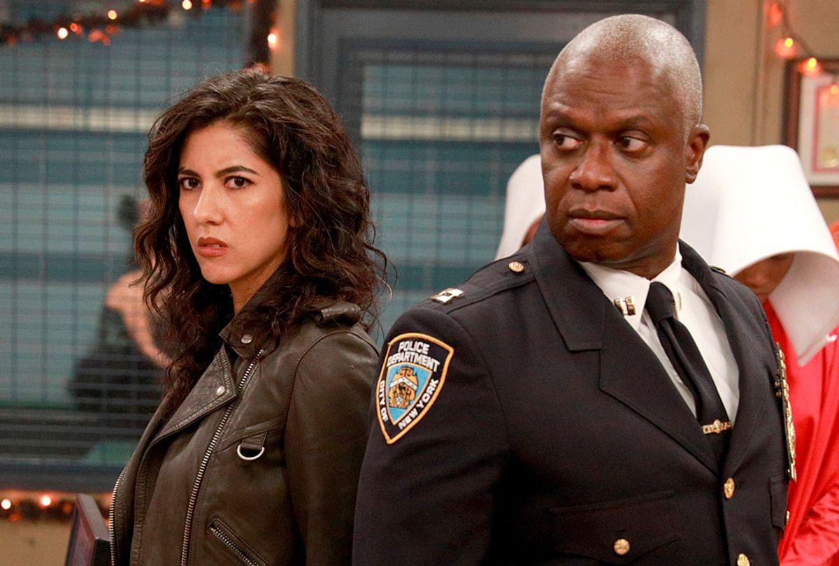 "tephanie Beatriz and Andre Braugher in ""Brooklyn Nine Nine"" (Fox/Jordin Althaus)"