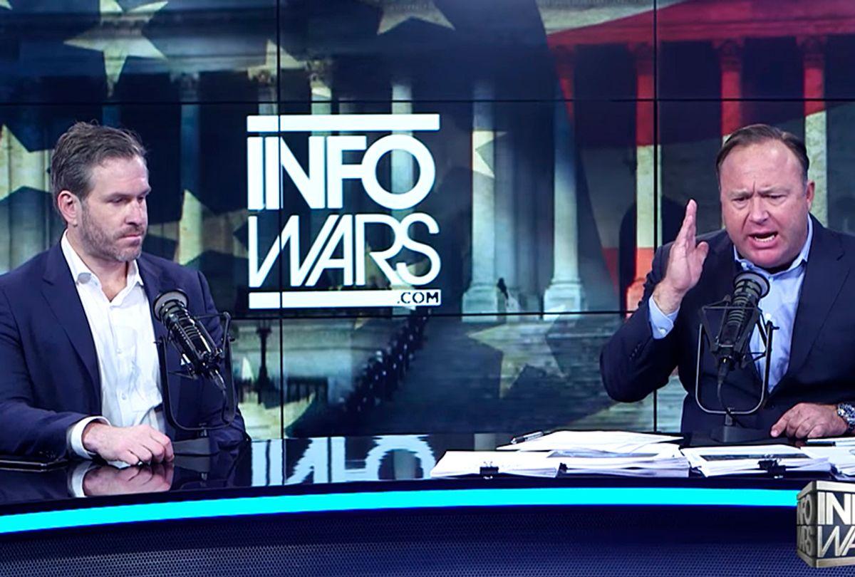 "Mike Cernovich and Alex Jones on ""Infowars"" (YouTube/The Alex Jones Channel)"