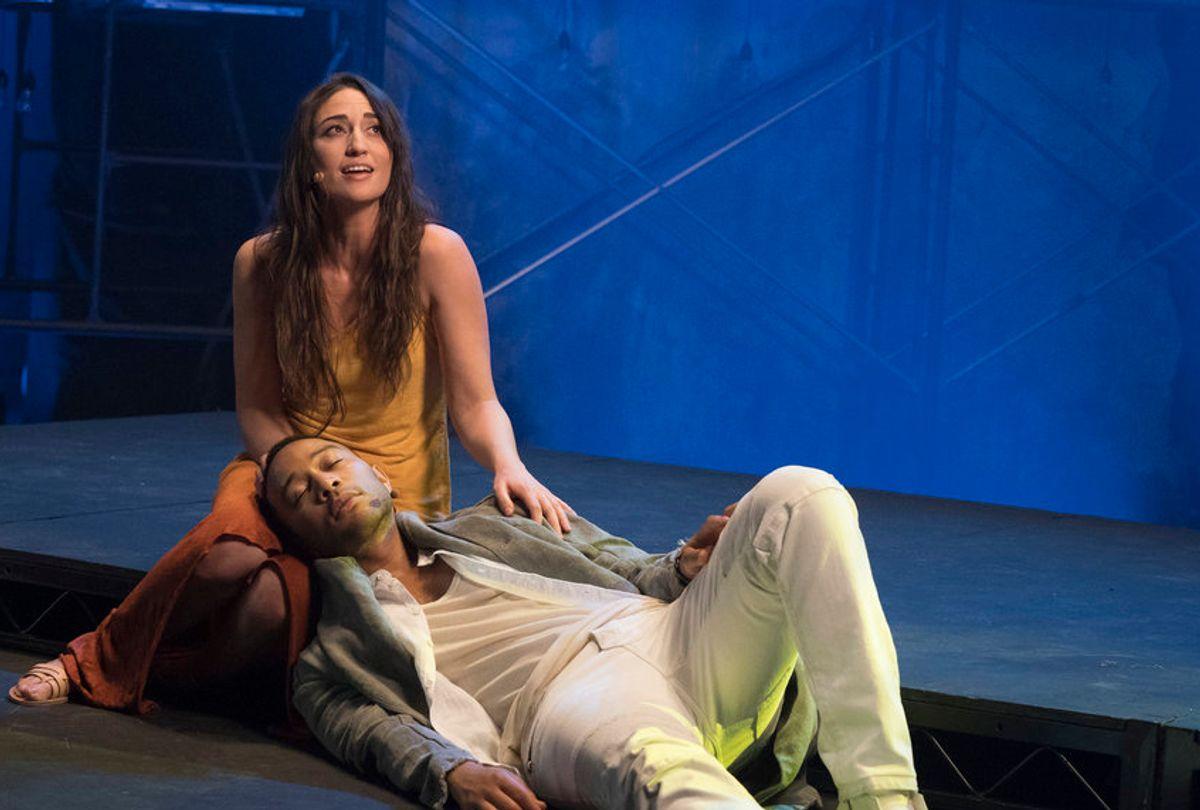 "Sara Bareilles as Mary Magdalene and John Legend as Jesus Christ in ""Jesus Christ Superstar Live in Concert!"" (NBC/Virginia Sherwood)"