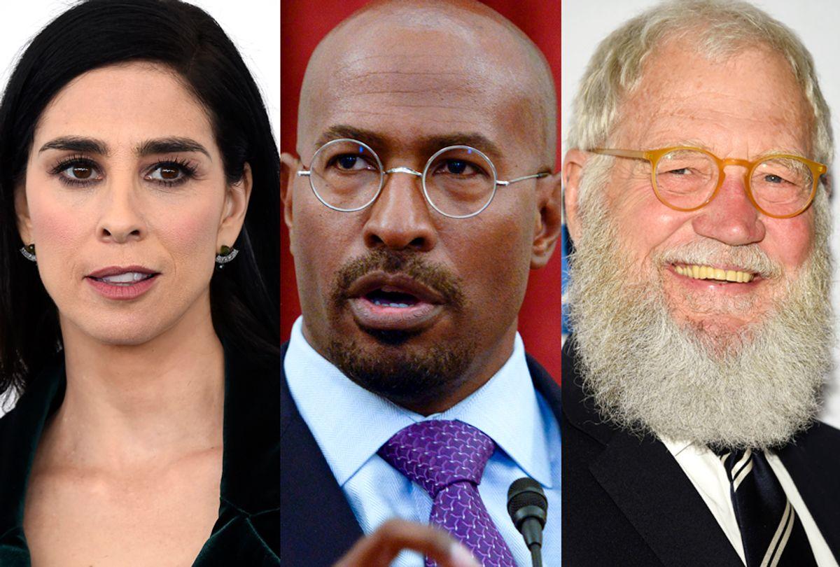 Sarah Silverman; Van Jones; David Letterman (AP/Jordan Strauss/Evan Agostini/Getty/Leigh Vogel)