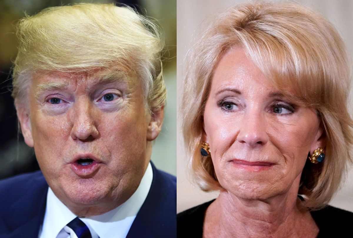 Donald Trump; Betsy DeVos (AP/Manuel Balce Ceneta/Getty/Mandel Ngan)