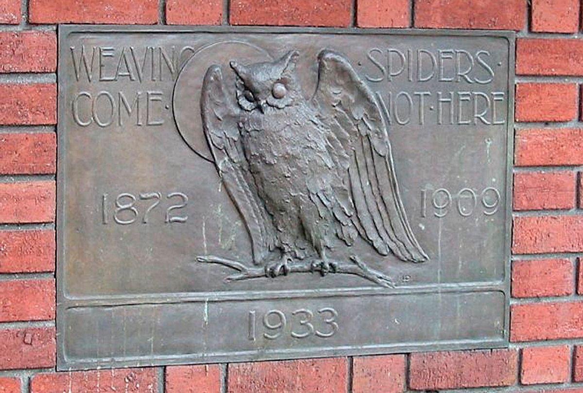 The Bohemian club's mascot owl. (Wikimedia)