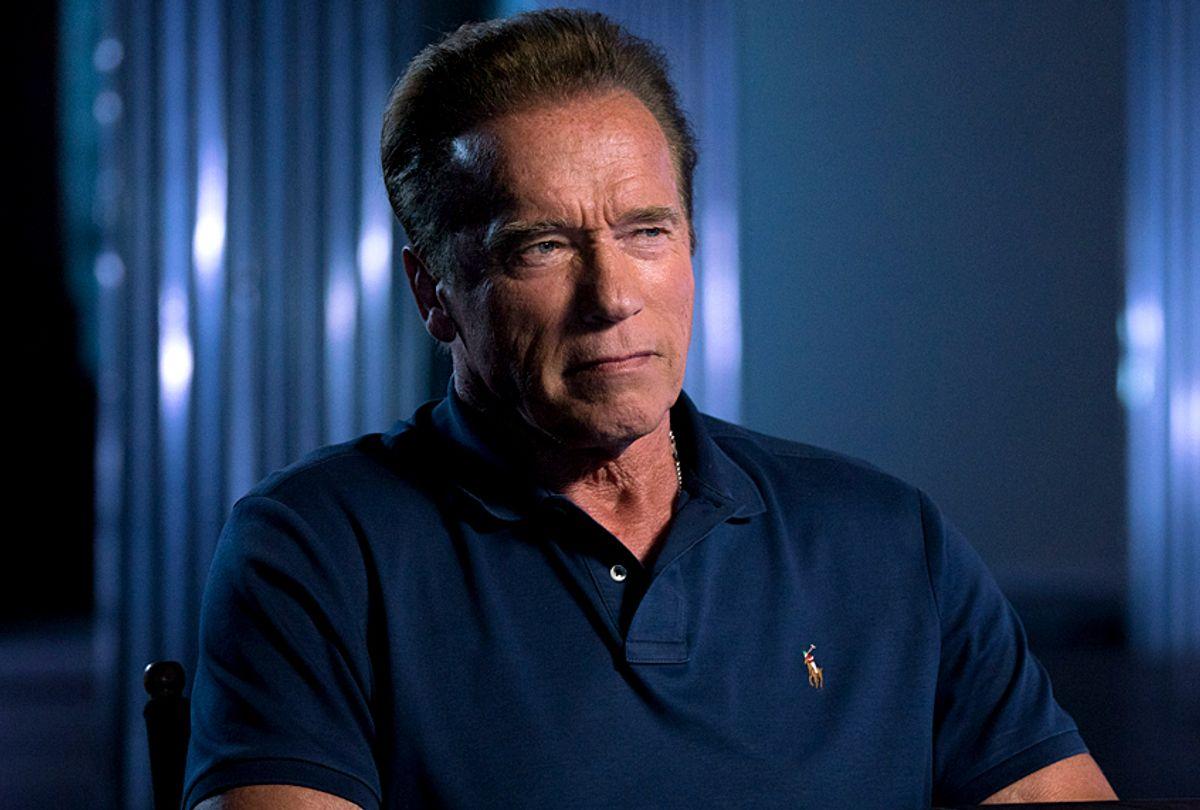 "Arnold Schwarzenegger on ""AMC Visionaries: James Cameron's Story of Science Fiction"" (AMC/Michael Moriatis)"