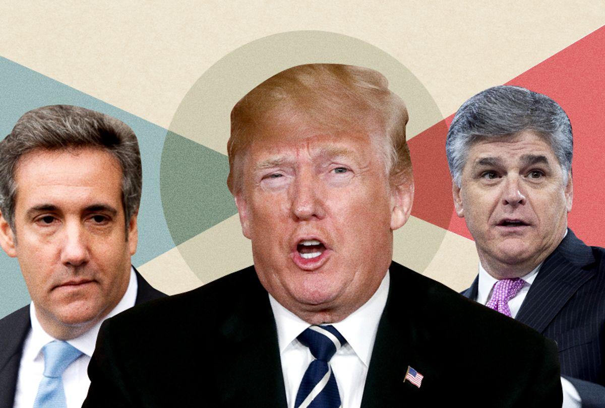 Michael Cohen; Donald Trump; Sean Hannity (Getty/AP/Photo Montage by Salon)