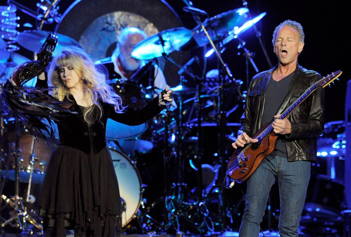 Stevie Nicks, left, and Lindsey Buckingham, formerly of Fleetwood Mac (AP/Chris Pizzello)