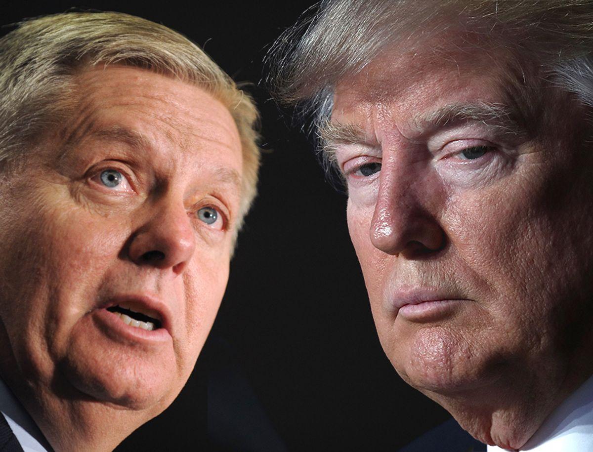 Lindsey Graham; Donald Trump (AP/Getty/Photo montage by Salon)