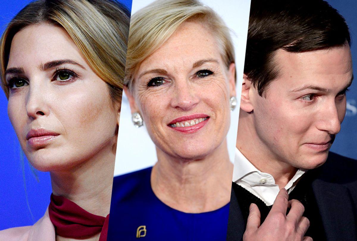 Ivanka Trump; Cecile Richards; Jared Kushner (Getty/Jim Watson/Dimitrios Kambouris/Drew Angerer)