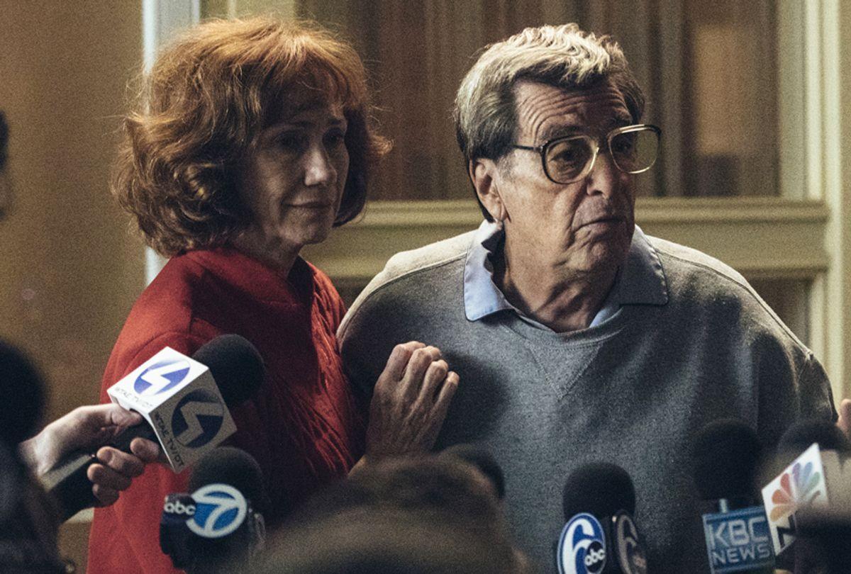 "Kathy Baker as Sue Paterno and Al Pacino as Joe Paterno in ""Paterno"" (HBO/Atsushi Nishijima)"