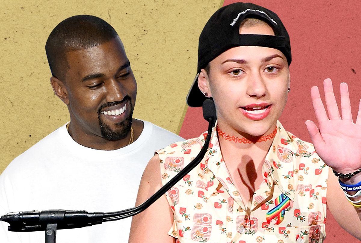 Kanye West; Emma Gonzalez (AP/Evan Agostini/Getty/Dimitrios Kambouris/Salon)