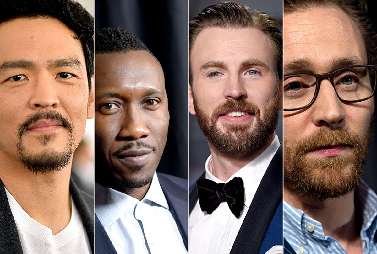 John Cho; Mahershala Ali; Chris Evans; Tom Hiddleston (Getty/AP)