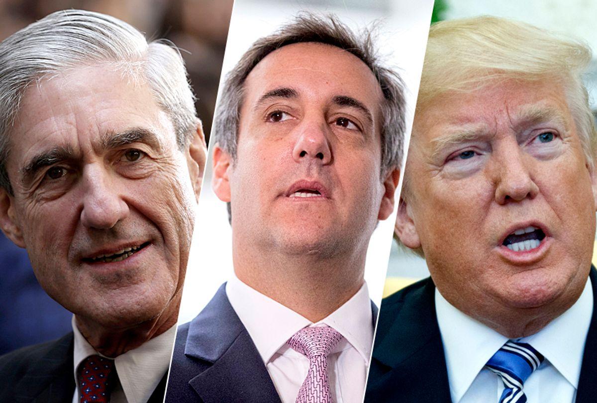 Robert Mueller; Michael Cohen; Donald Trump (Getty/Alex Wong/AP/Andrew Harnik/Evan Vucci)
