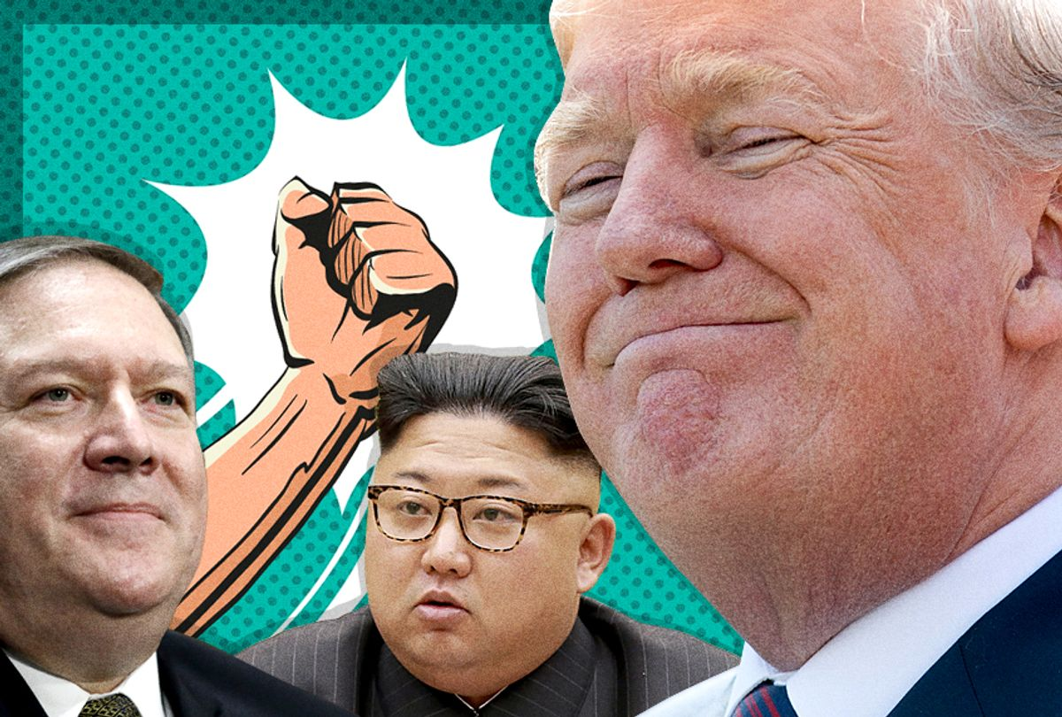 Mike Pompeo; Kim Jong-un; Donald Trump (Getty/AP/Salon)