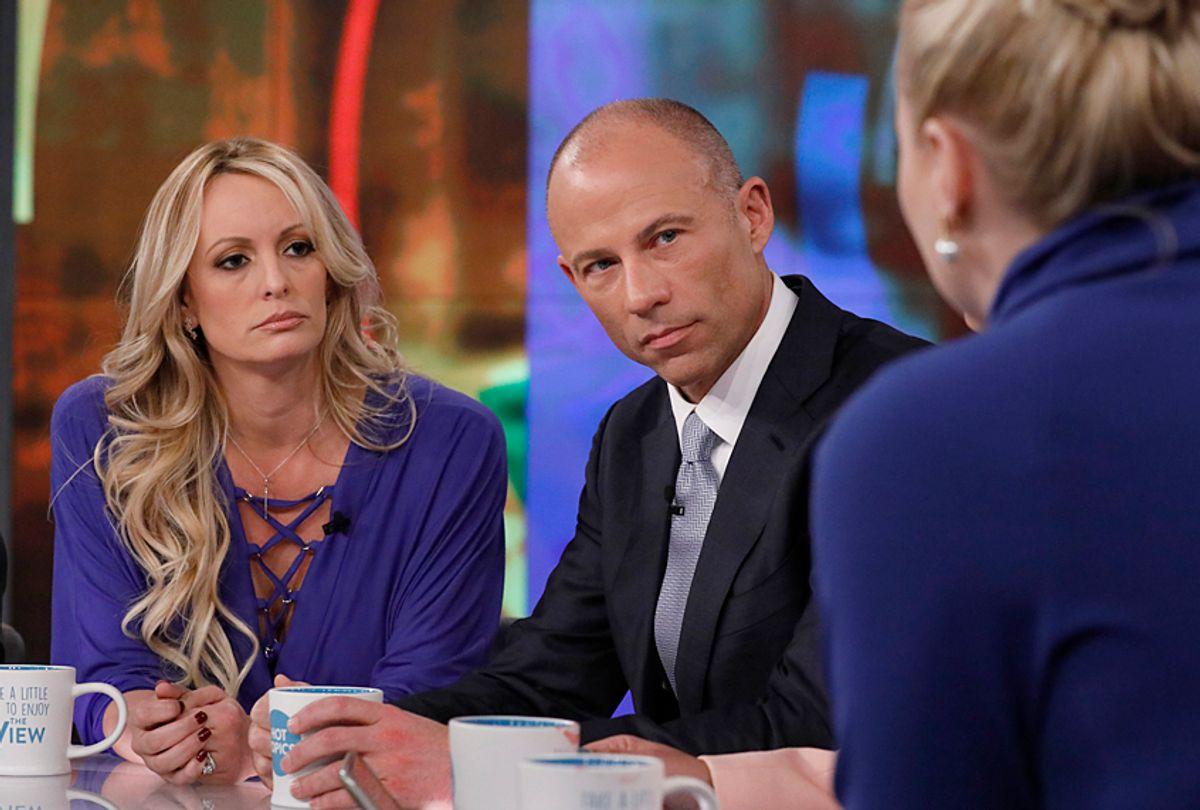 "Stormy Daniels, Michael Avenatti and Meghan McCain on ""The View"" (ABC/Heidi Gutman)"