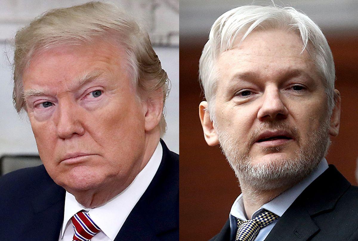 Donald Trump; Julian Assange (Getty/Mark Wilson/Carl Court)