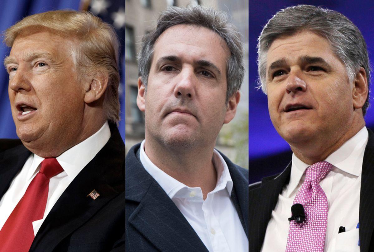 Donald Trump; Michael Cohen; Sean Hannity (AP/Getty)