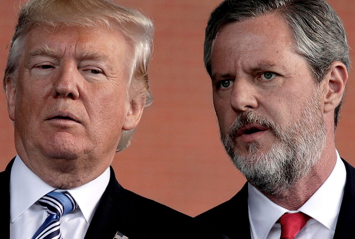 Donald Trump and Jerry Falwell (Photo illustration by Salon/Getty Images)