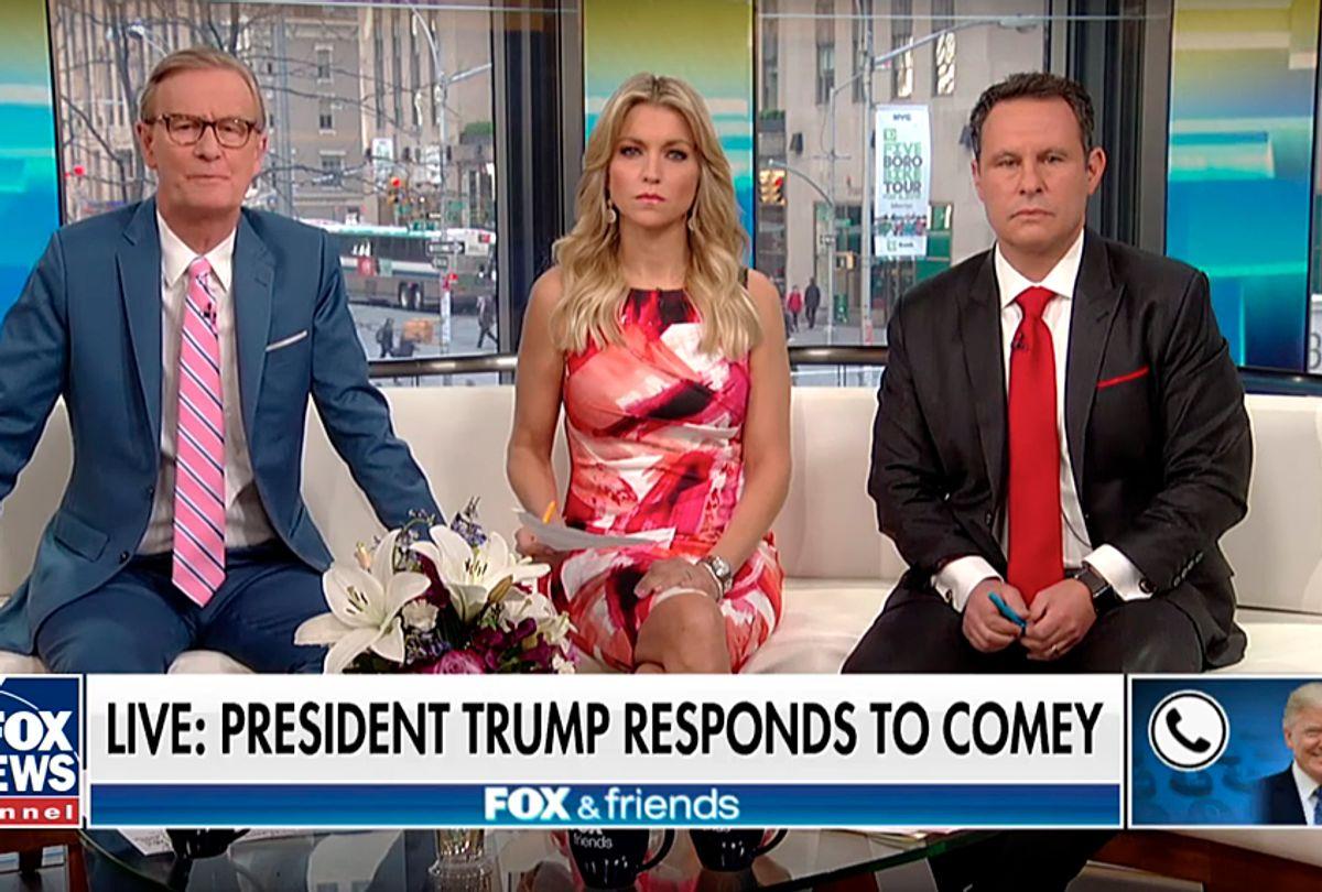 "Donald Trump's ""Fox & Friends"" phone interview. (YouTube/Fox News)"