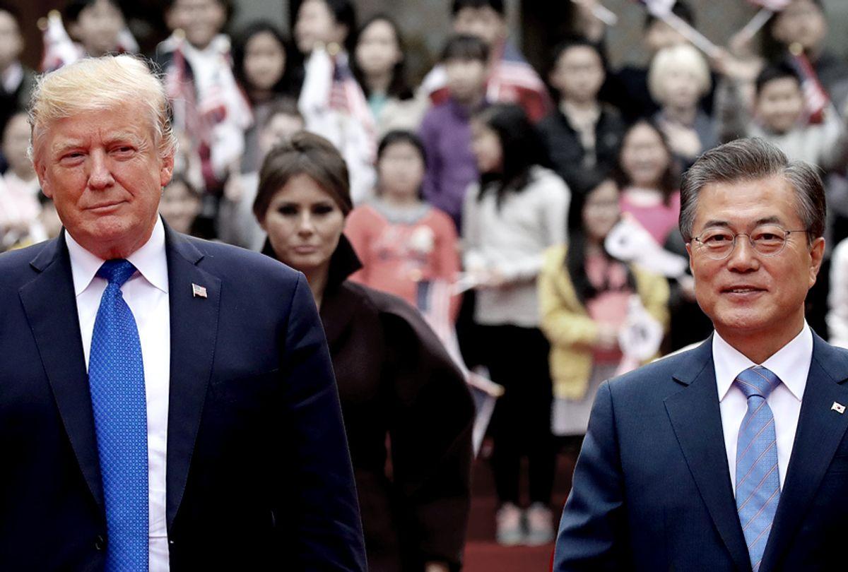 Donald Trump and South Korean President Moon Jae-In (Getty/Chung Sung-Jun)