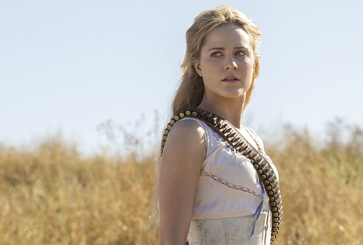 "Evan Rachel Wood as Dolores Abernathy in ""Westworld"" (HBO/John P. Johnson)"