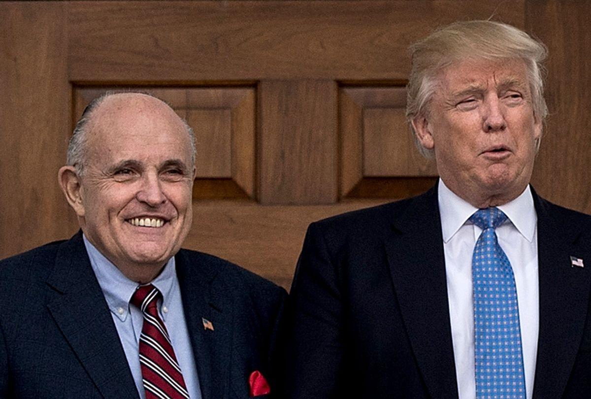 Rudy Giuliani and Donald Trump (Getty/Drew Angerer)