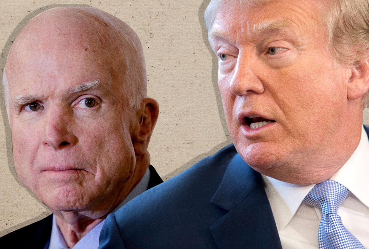 John McCain; Donald Trump (AP/J. Scott Applewhite//Chris Kleponis)