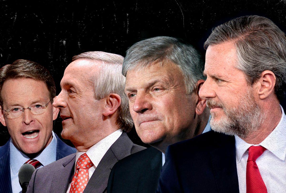 Tony Perkins; Robert Jeffress; Franklin Graham; Jerry Falwell, Jr. (AP/Getty/Salon)