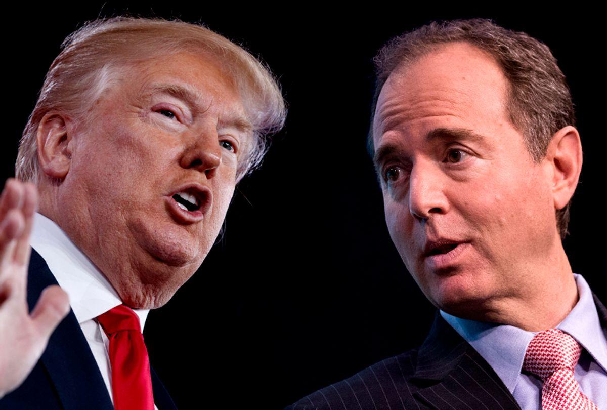 Donald Trump; Adam Schiff (AP/Evan Vucci/Getty/Drew Angerer/Salon)