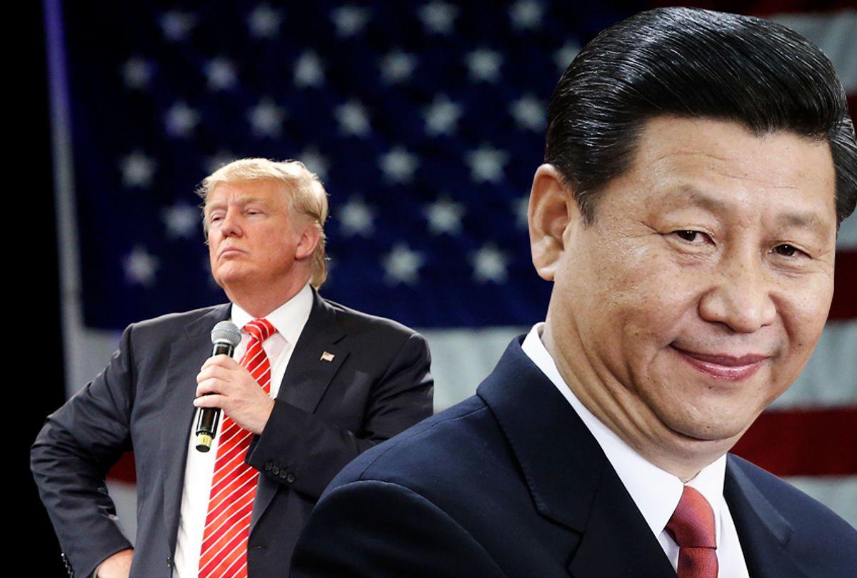 Donald Trump; Xi Jinping (Getty/Photo montage by Salon)