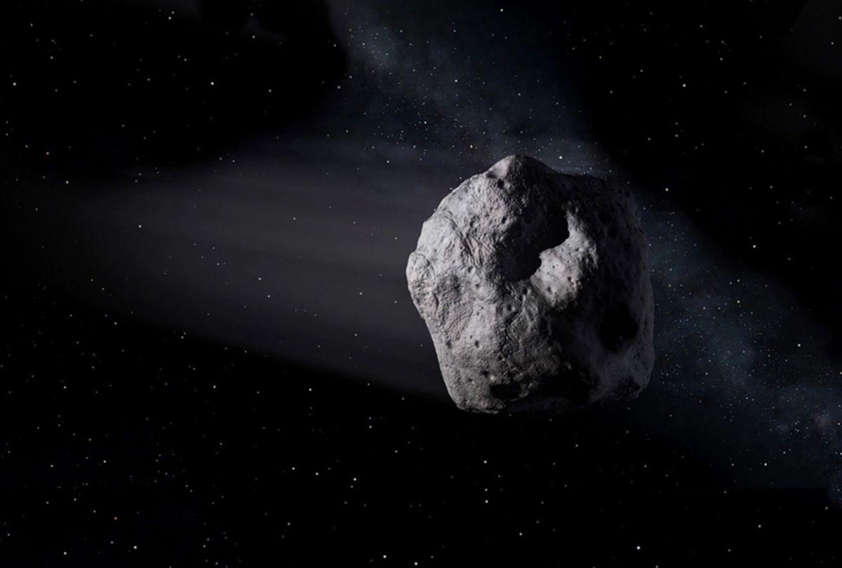 Artist's concept of a near-Earth object. (NASA/JPL-Caltech)