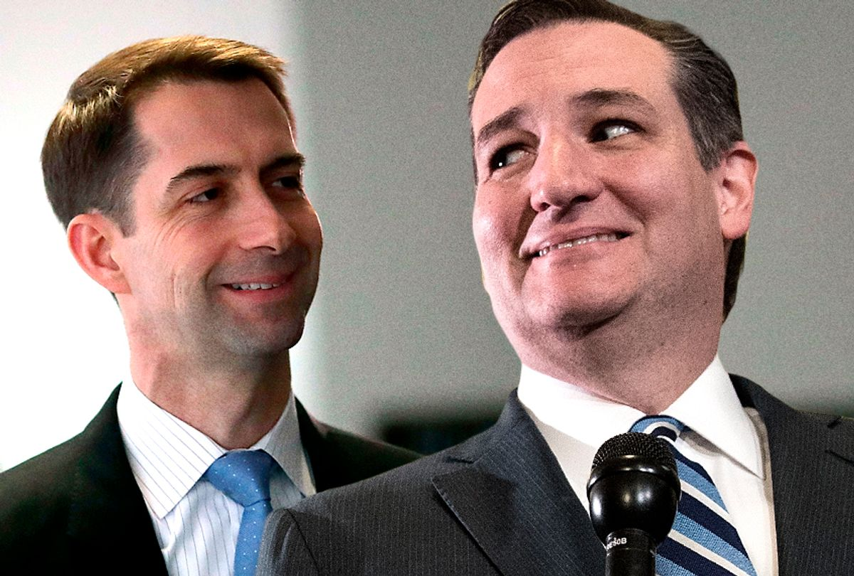 Tom Cotton; Ted Cruz (Getty Images/Photo montage by Salon)