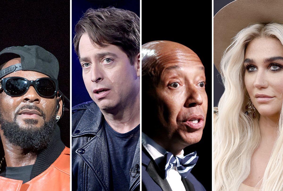 R. Kelly; Charlie Walk; Russel Simmons; Kesha (Getty/AP)