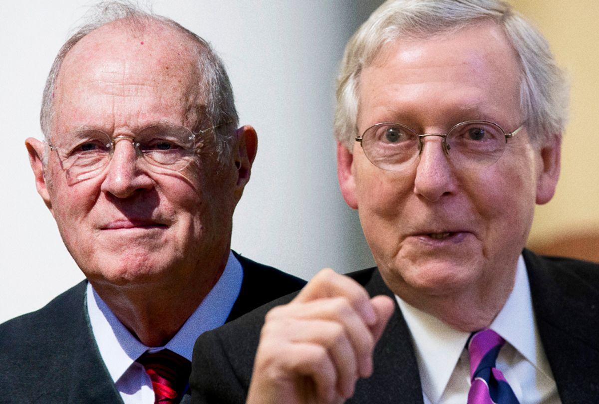 Anthony Kennedy; Mitch McConnell (AP/Getty/Salon)