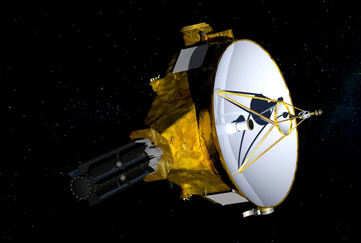 "The New Horizons spacecraft is headed towards an object nicknamed ""Ultima Thule"" (NASA/JHUAPL/SwRI via AP)"