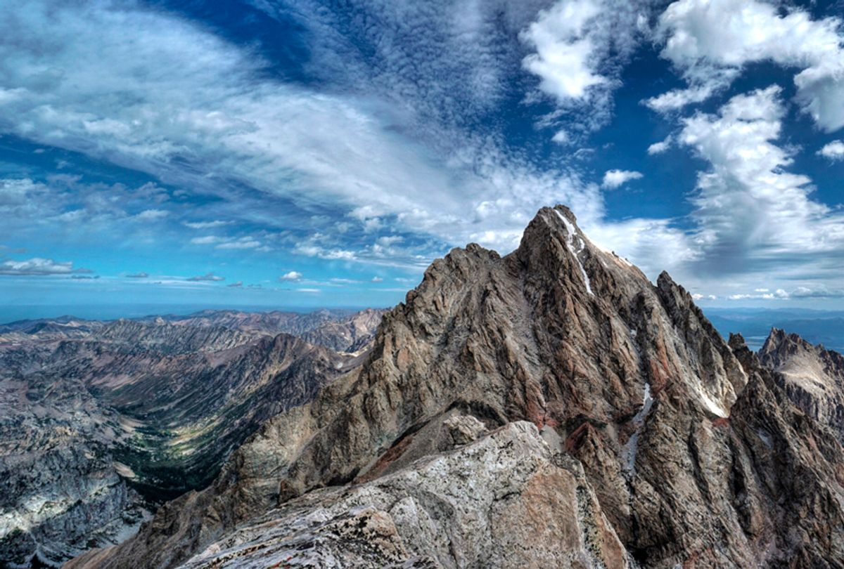 Looking toward the Grand Teton from the summit of the Middle Teton (Getty Images)