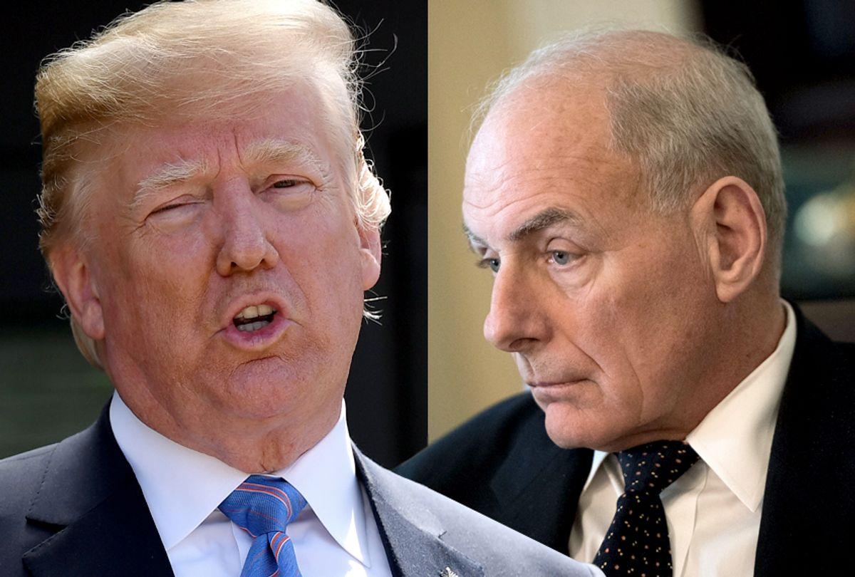 Donald Trump; John Kelly (Getty/Leon Neal/Kevin Dietsch)