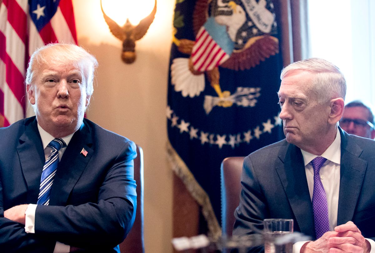 Donald Trump and James Mattis (Getty/Michael Reynolds)