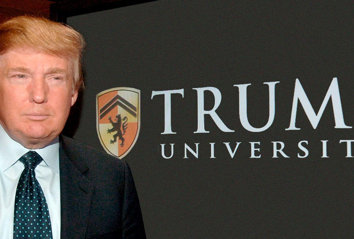 Donald Trump announcing his plans for Trump University, May 23, 2005. (AP/Dennis Van Tine)