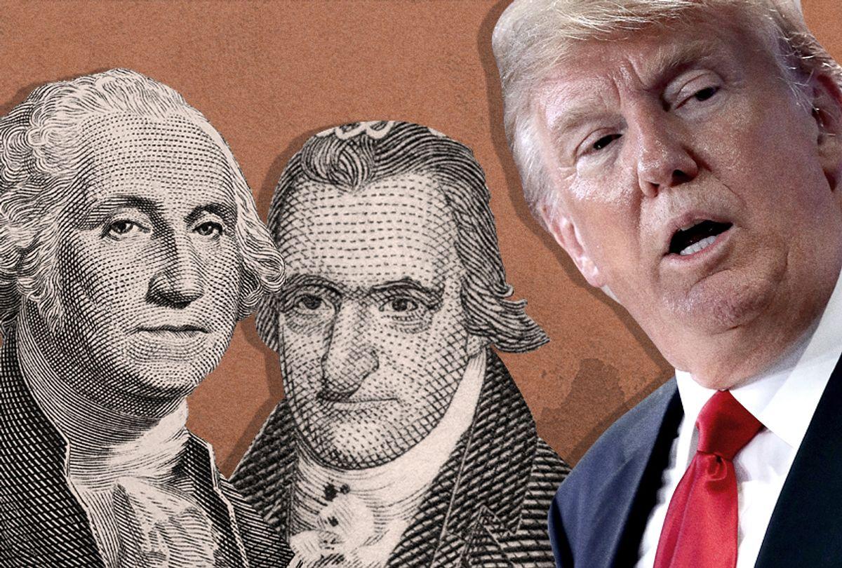 George Washington; Thomas Paine; Donald Trump (Getty/Shutterstock/Photo Montage by Salon)