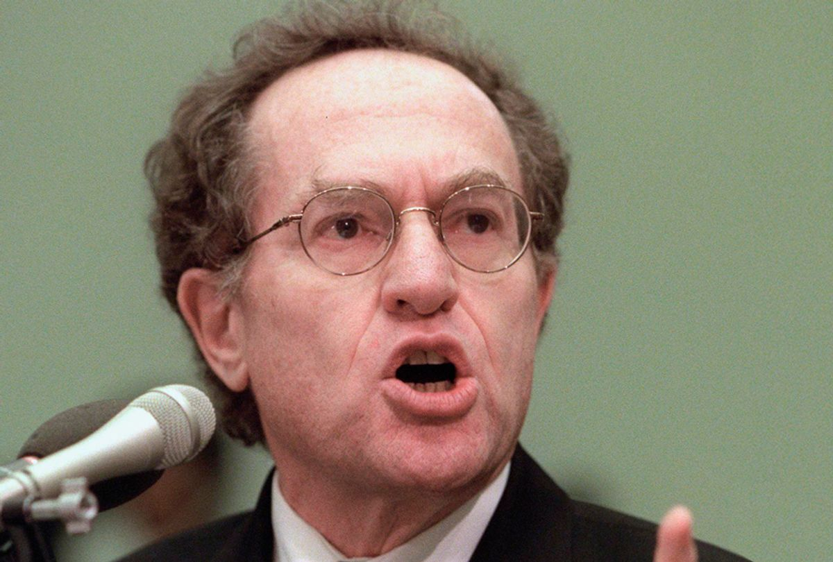 Alan Dershowitz testifies before the US House Judiciary Committee during impeachment hearings on Capitol Hill, December 1, 1998. (Getty/Luke Frazza)