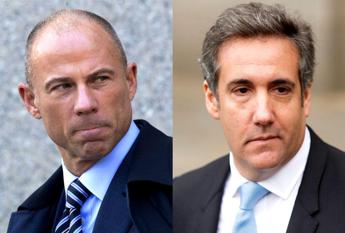 Michael Avenatti; Michael Cohen (AP/Mary Altaffer/Getty/Eduardo Munoz Alvarez)