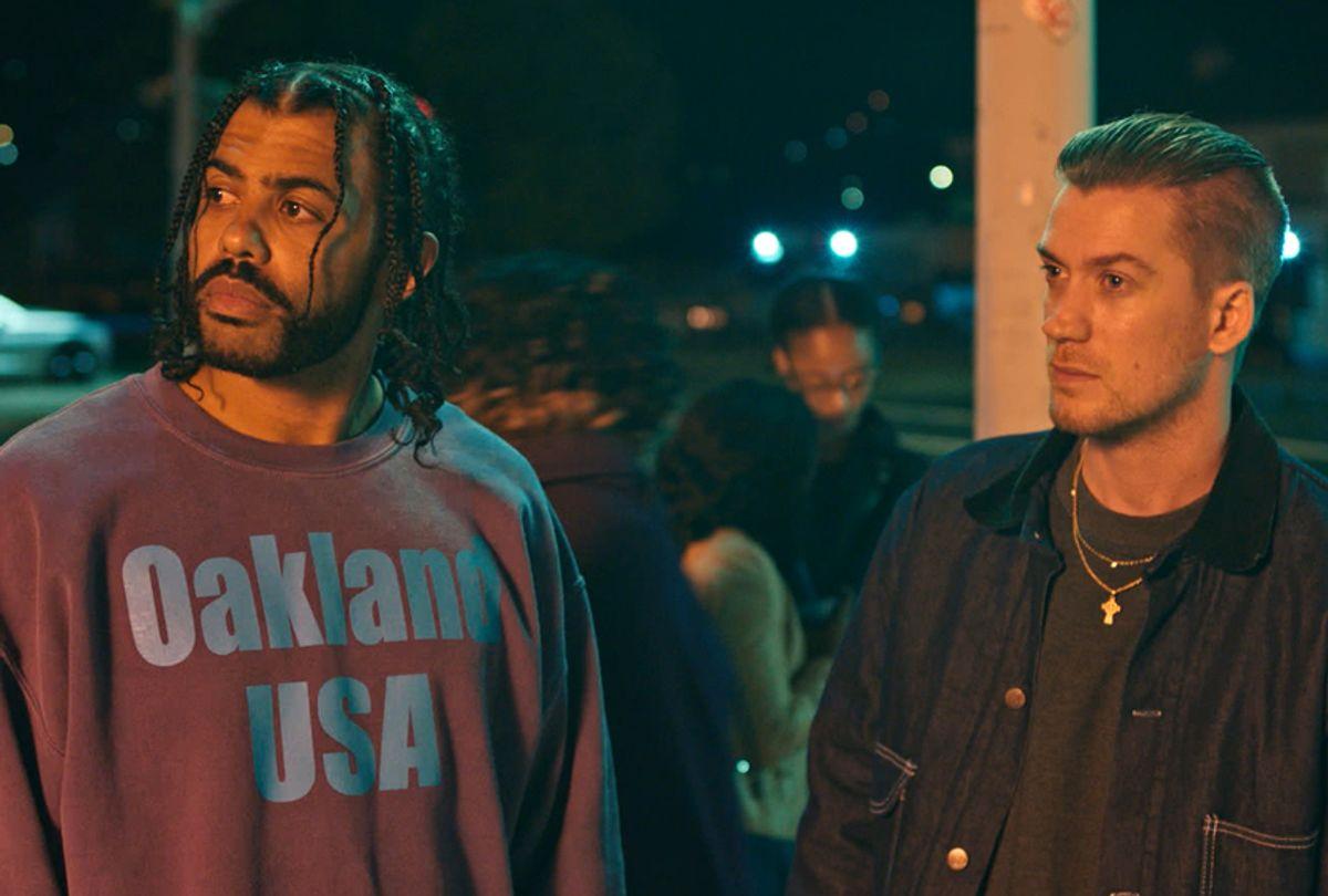 "Daveed Diggs as Collin and Rafael Casal as Miles in ""Blindspotting"" (Ariel Neva/Lionsgate)"
