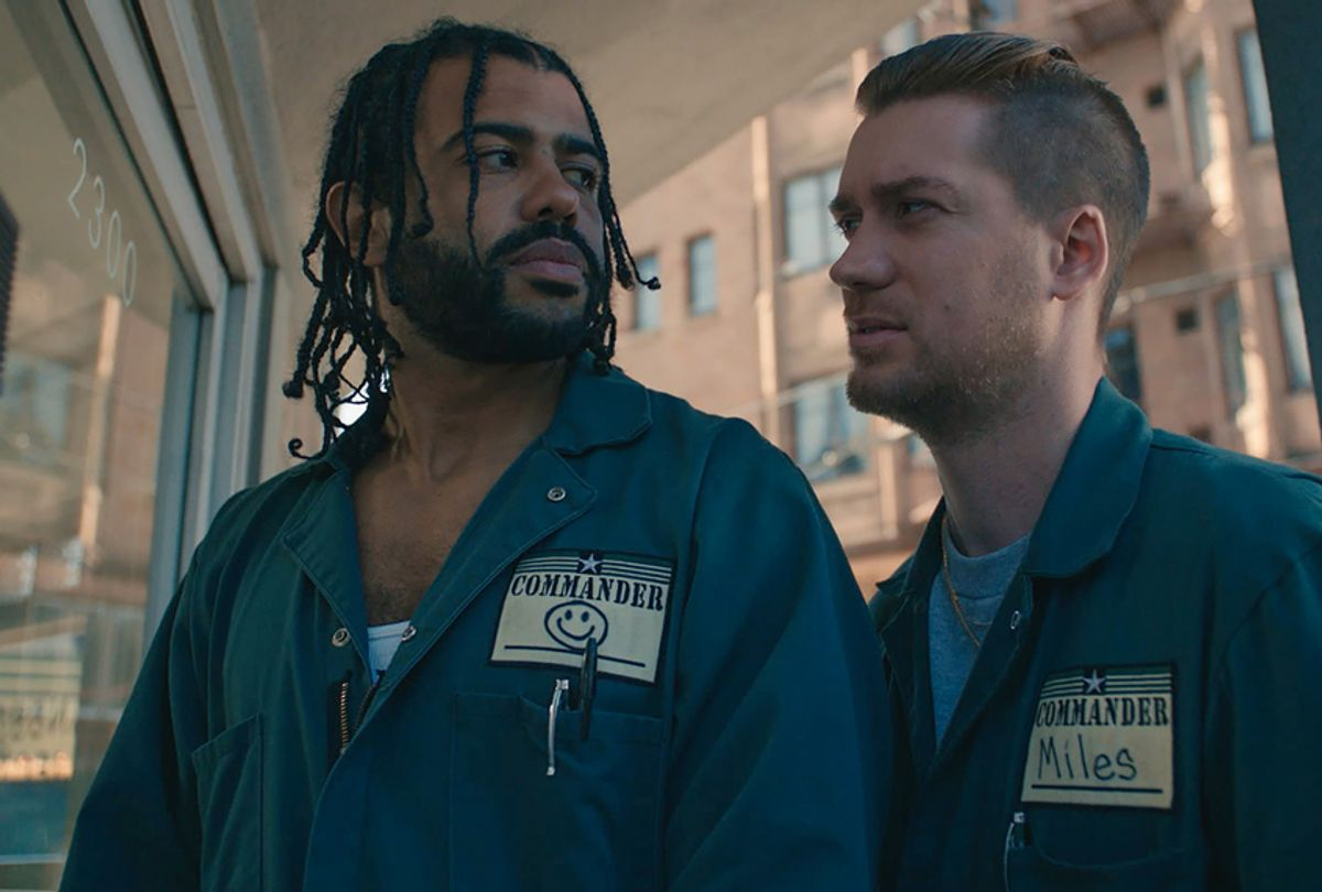 """Daveed Diggs and Rafael Casal in """"Blindspotting"""" (Courtesy of Lionsgate)"""