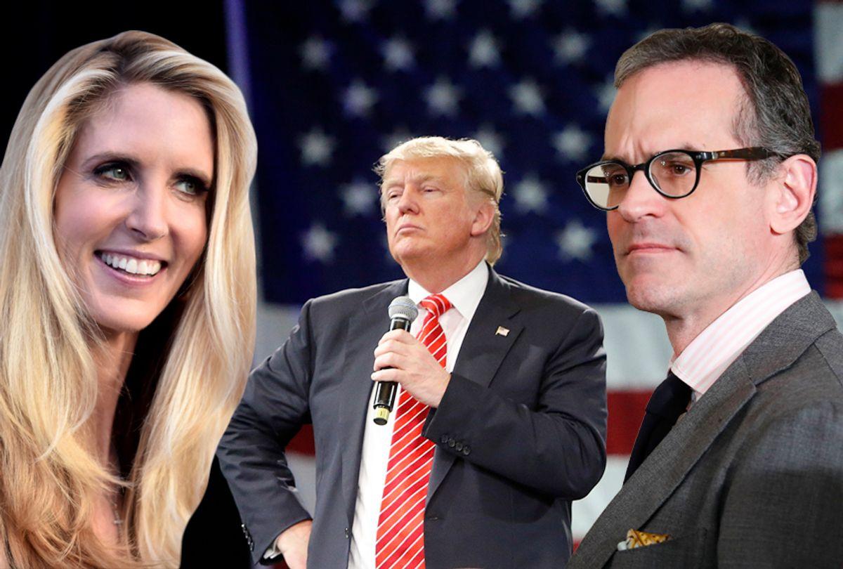 Ann Coulter; Donald Trump; Michael Anton (AP/Getty/Photo montage by Salon)
