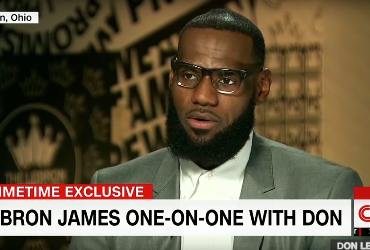 LeBron James on CNN (CNN)