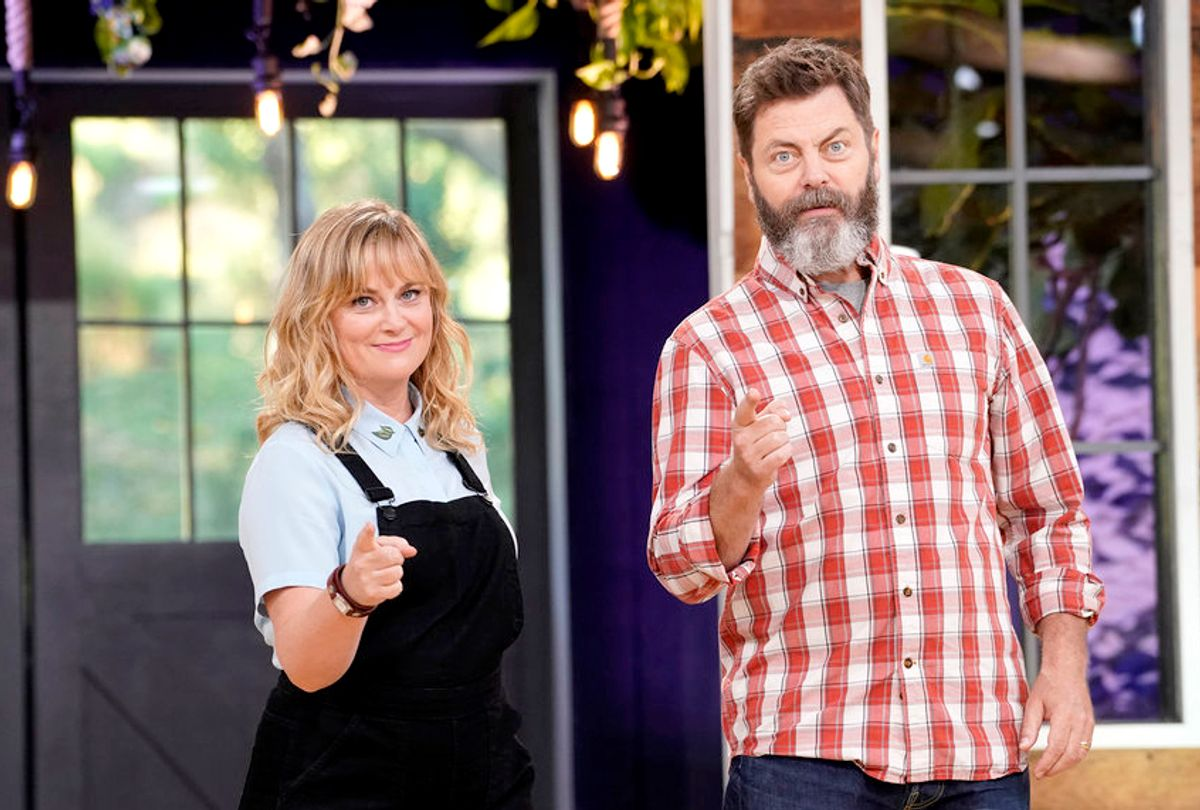 """Amy Poehler and Nick Offerman in """"Making It"""" (Paul Drinkwater/NBC)"""